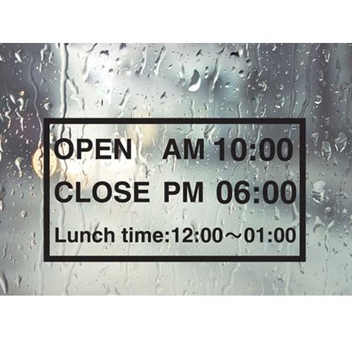 Free Shipping Shop Open Close Lunch Time Sign Decor Mural Art Vinyl Wall Sticker Store Door
