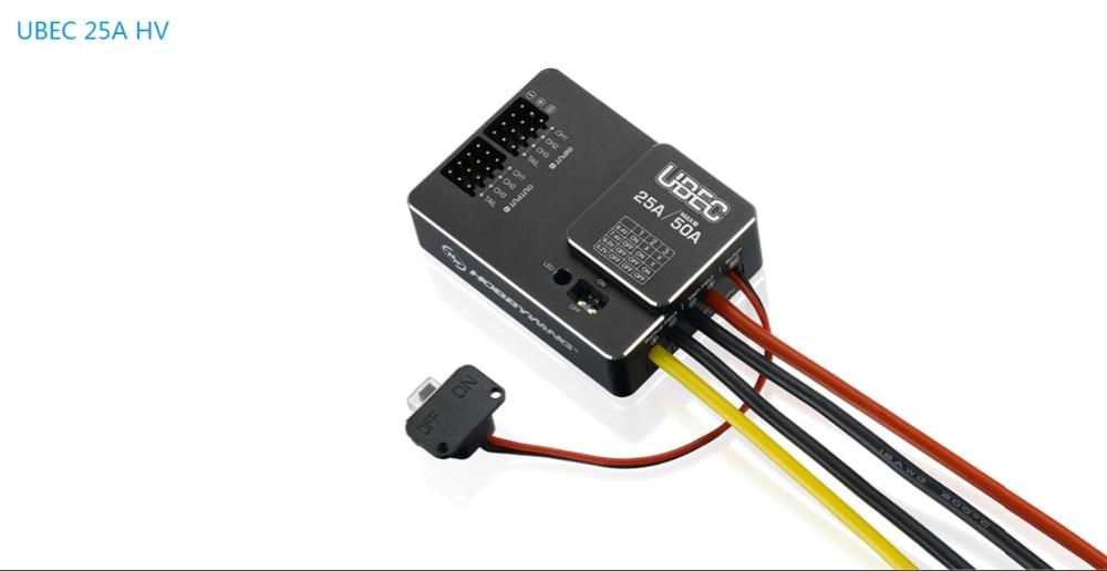 Hobbywing externe 25A UBEC HV 20A/50A prend en charge la batterie Lipo 3-18 SHobbywing externe 25A UBEC HV 20A/50A prend en charge la batterie Lipo 3-18 S