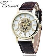 2017 Trend Watch Vansvar Luxurious Model Hole Out Leather-based Watch Ladies Informal Skeleton Quartz Watch Relogio Feminino Clock 1977