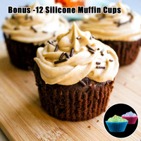 Silikolove 2 предмета Силиконовые Muffin Pan & кекс противень 100% пищевой антипригарным торта круглые мини-Маффин пан Формы для выпечки