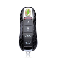 QHCP Auto Accessories Remote Control Smart Key Case Cover Car Key Bag Protective For Porsche Panamera Cayenne Cayman Car Styling