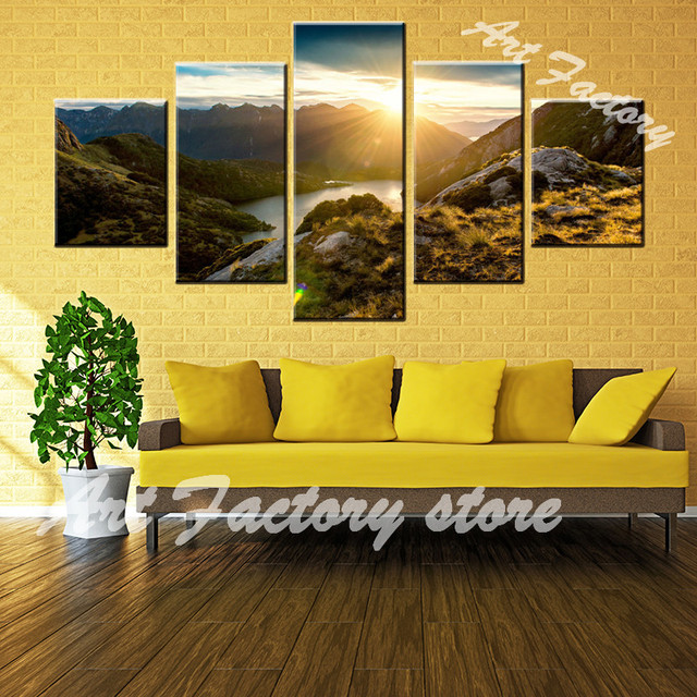 Canvas HD Prints Posters Wall Art 5 Pieces World Outside Cave ...