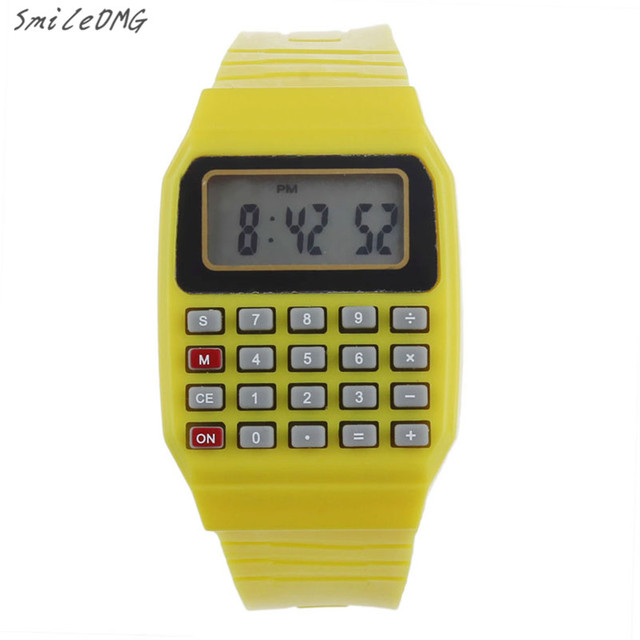 SmileOMG Kid's Watch Unsex Silicone Multi-Purpose Date Time Electronic Wrist Calculator Watch Free Shipping ,Sep 1