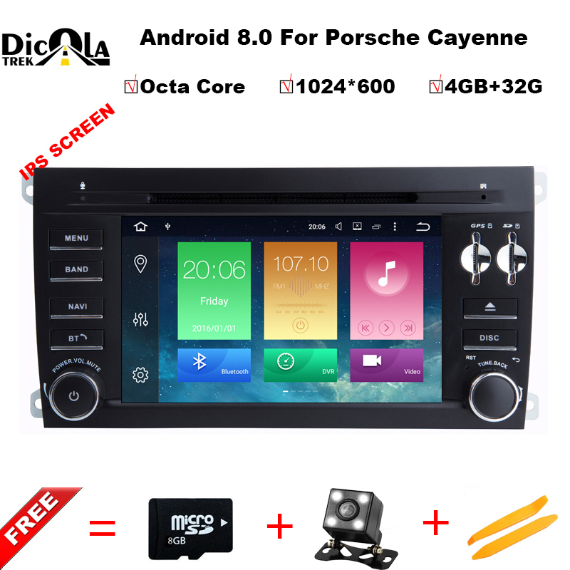 4+32G Android 8.0 Auto Stereo Multimedia For PORSCHE CAYENNE 2003-2010 car dvd player GPS Bluetooth Radio device stereo Navi автомобильный dvd плеер hotaudio 4 4 4 kia sportage 2010 dvd gps navi dhl ems