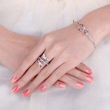 Sterling Silver Love Heart Bangles Bracelets Jewelry