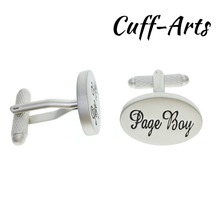 Cuffarts 2018 Cufflinks 1 Pair Novelty Wedding Page Boy Cuff Links Vintage Silver Men Jewelry Gift C10100