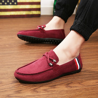 Men Casual Shoes Luxury Brand Lace Up Loafers Men Designer Fashion Suede Leather Driving Shoes For Men Moccasins scarpe uomo