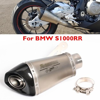 S1000RR Motorcycle Exhaust Pipe Muffler Carbon Fiber Stainless Exhaust Tip for BMW S1000RR 2010-2014