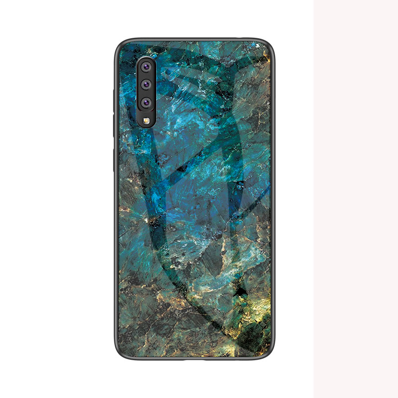 50pcs lot Marble Pattern Tempered Glass Soft TPU Frame Cases for Samsung A10E A20E A10 A20