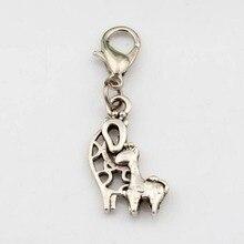 150pcs Tibetan Silver New Giraffe Charm Lobster claw clasp Fit Bracelet 35x10.5mm 36D72