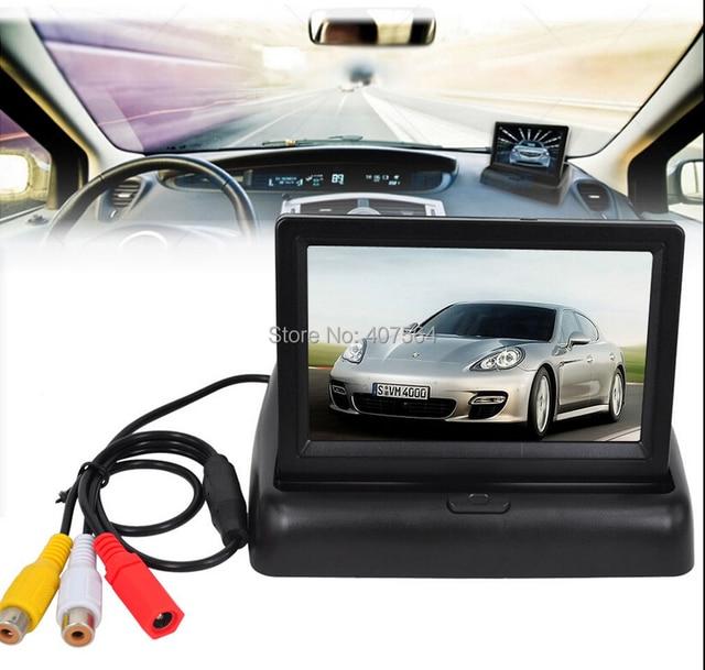 Univeral 4.3 Дюймов Цветной TFT LCD Парковка Вид Сзади Автомобиля обратный резервного копирования Зеркало-Монитор