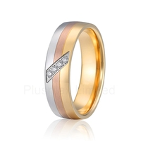 designer wedding band engagement rings for women color silver rose gold yellow gold tricolor europe quality jewelry