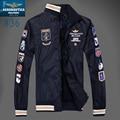 2016 homens de roupas de Marca jaquetas, aeronautica militare dos homens Trincheira Casaco Outerwear Casacos de inverno jaquetas militares K5326