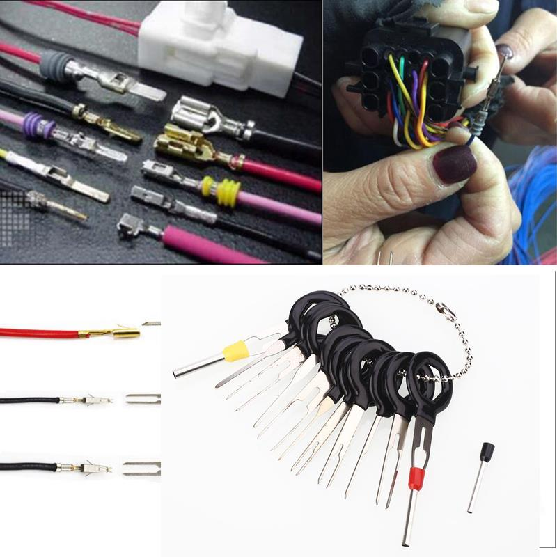 us $2 51 13% off vehemo 11pcs car cable line terminal removal tools harness wiring pin extractor tool in tire repair tools from automobiles & crimping tools for electrical wire tools for wiring #15