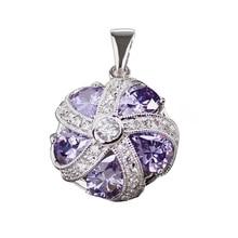 Colgante de moda de la joyería Amethyst Cubic Zirconia venta al por mayor redondo PR4a51 Vintage el nuevo promoción de venta favorito