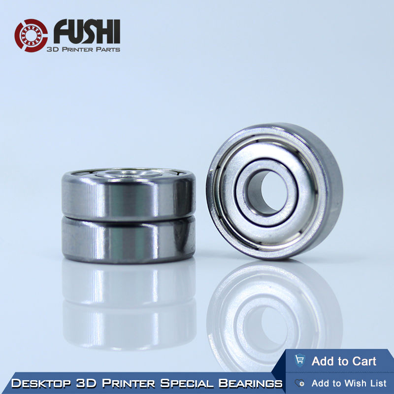Desktop 3D Printer Special Bearing <font><b>625ZZ</b></font> (10PCS) 5X16X5mm Mini kogellager 625 For Kossel Mini Prusa i3 Parts Free Shipping image