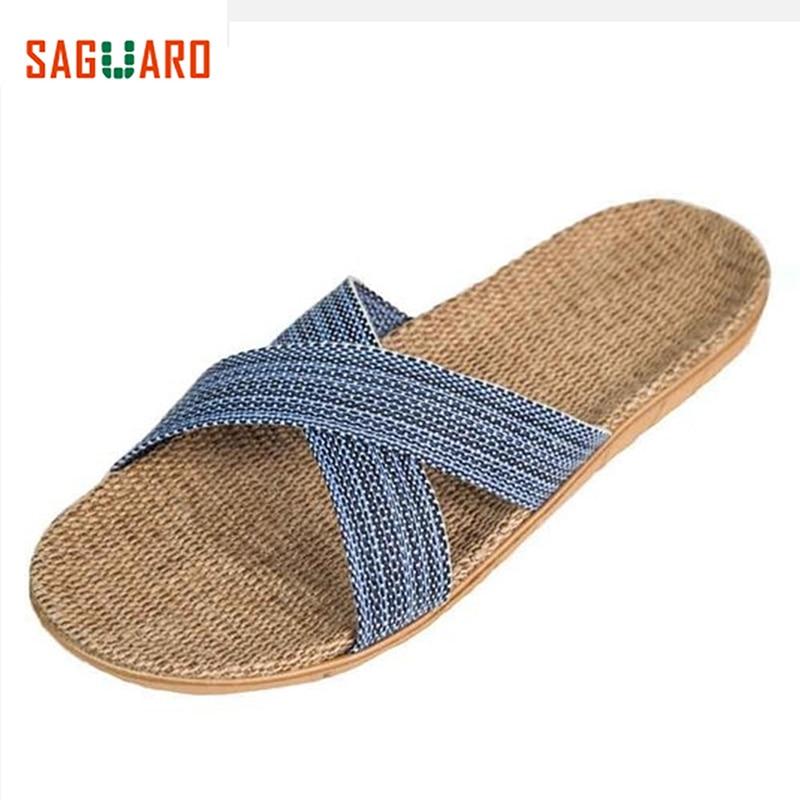 SAGUARO Home Slippers Summer Indoor Shoes Flats Women Men