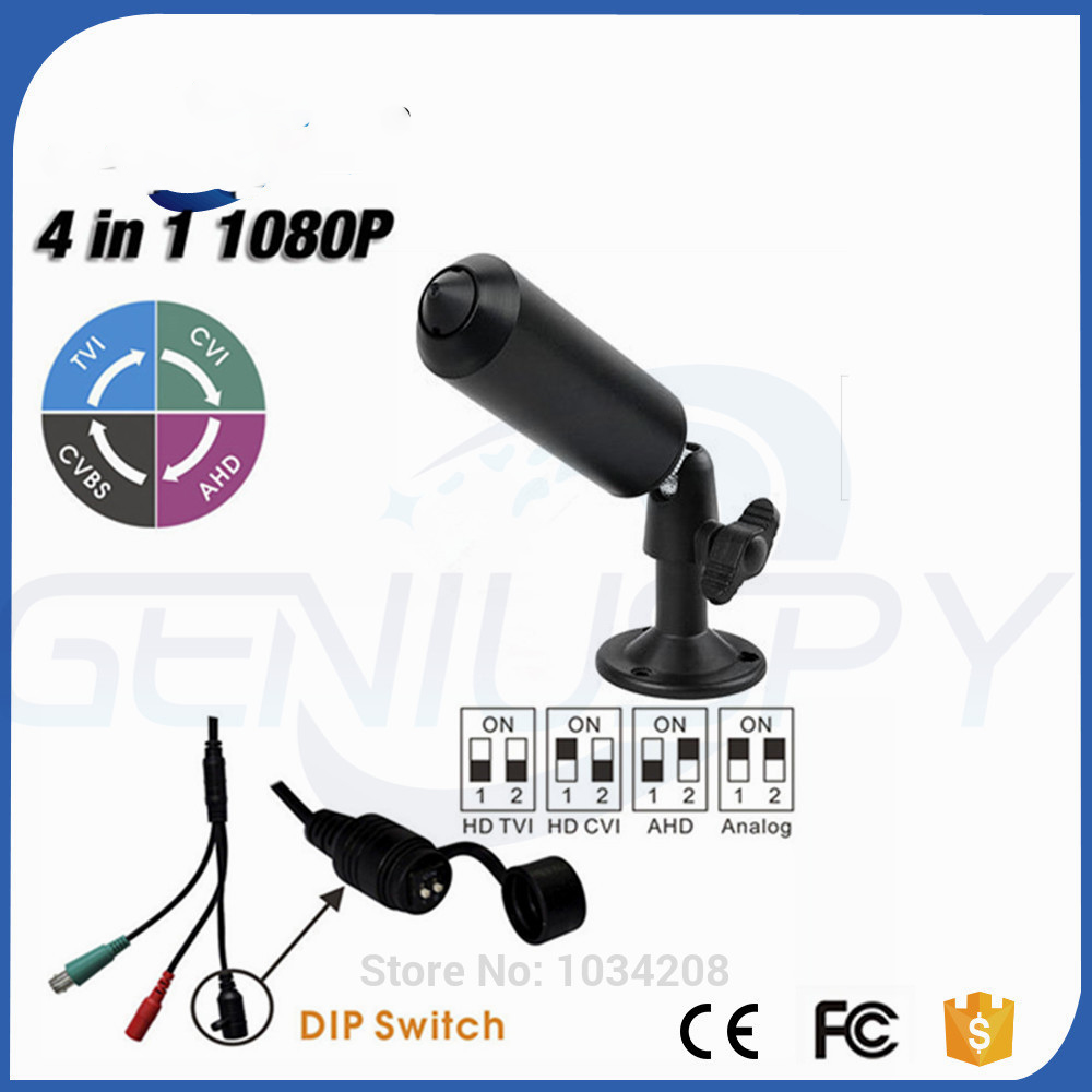 Latest Sony323 Senor 1080P 4 IN 1 AHD/TVI/CVI/CVBS Mini Bullet Pin hole Camera For Indoor Covert Use&industry 4 in 1 ir high speed dome camera ahd tvi cvi cvbs 1080p output ir night vision 150m ptz dome camera with wiper