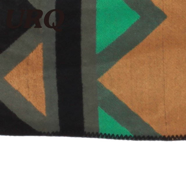 winter autum warm poncho for women geometric print green luxury brand design for lady girl 2017 new fashion