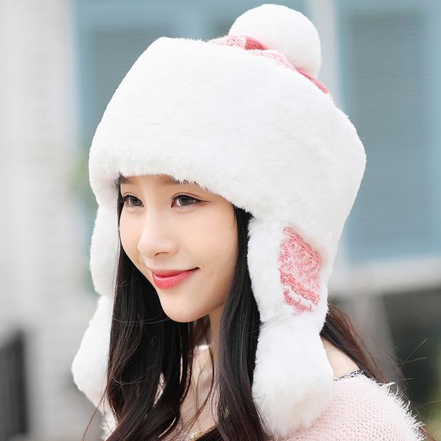 6ea773367f9 Girls Warm Mongolia Hats Princess Lei Feng Cap Winter Thickening Warm Youth  Cap Protective Ear Plush Hat Northeast Hats B-8836