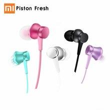 Original Xiaomi Mi Piston Fresh Version Earphone Generation 3rd Aluminium Chamber 5 Colors Optional Mic In-ear Headset Stereo