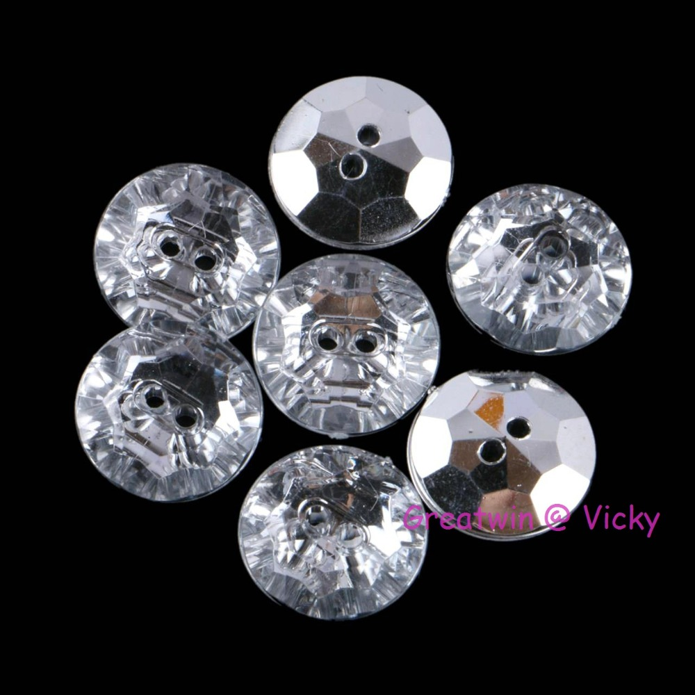 Lovely 50pcs 13mm Mixed Acrylic Drill Round Sewing Buttons For Kids Clothes Scrapbooking Decorative Botones Handicraft Diy Accessories Punctual Timing Buttons Apparel Sewing & Fabric
