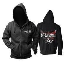 Bloodhoof killswitch envolver heavy metal preto com capuz com zíper tamanho asiático