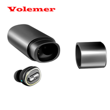 Volemer Mini Bluetooth Headset Stereo In-ear Earbuds Wireless V4.1 Earphones Noise Canceling with Charging Box for IOS Android