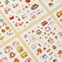 6sheets/lot cartoon animals ver1 ver2 ver3 PVC/PET Stickers DIY Dairy Book Decoration Multifunction Scrapbooking