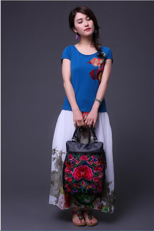 new Embroidered bags small bag National trend handmade fabric embroidery one shoulder cross-body women's messenger