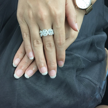 Solid 18K White Gold Full Eternity Wedding Band  5