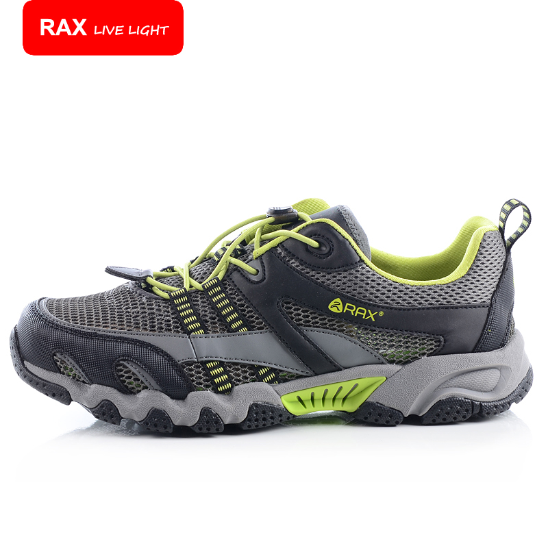 ФОТО RAX New Outdoor Trekking Shoes Men Lightweight Trekking Shoes Quick-Drying Breathable Men Aqua Water Shoes Summer Shoes 32-5K115