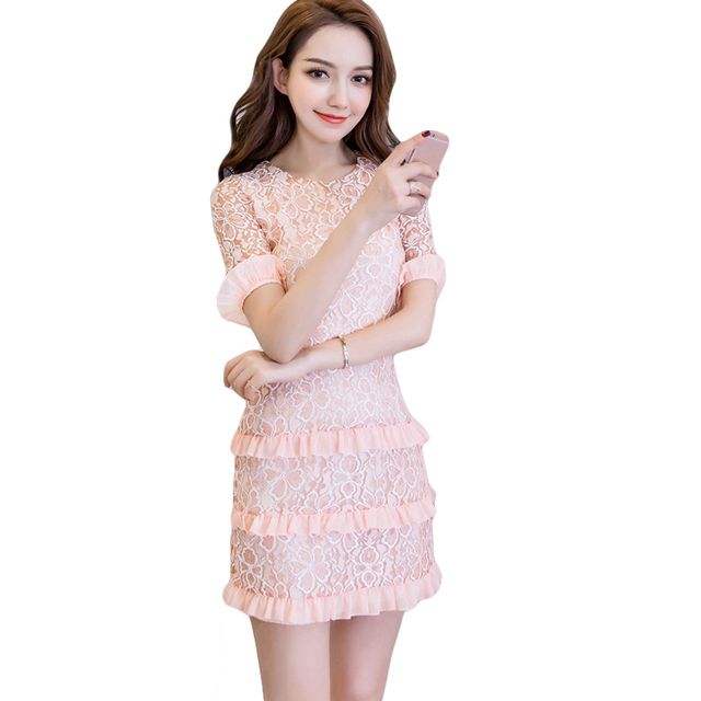 Pink cocktail dress korean