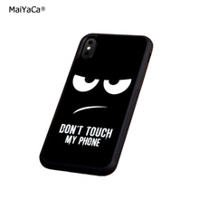 do not touch my phone soft  silicone edge mobile phone cases for apple iPhone x 5s SE 6 6s plus 7 7plus 8 8plus XR XS MAX case стоимость