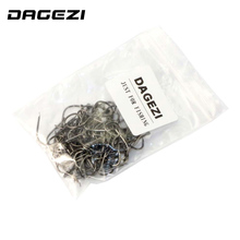 DAGEZI 100Pcs/Lot 6# -15# high Carbon Steel Fishing Hook Fishhooks Durable Pesca barbed hook Fishing Tackle Box