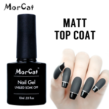 MorCat Matt Top Coat Gel Nail Polish Transaprent Top Gel Matt UV Top Coat UV LED Soak Off Nail Art Gel Varnish Lacquer недорого