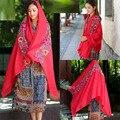 2017 la venta Caliente mujeres del verano del resorte del mantón de 20 colores de algodón y lino perspectiva impresión bufanda de seda sedoso suave retro de doble uso bufandas