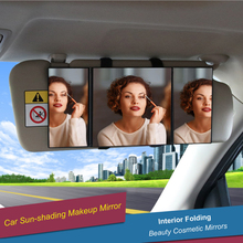 Car Sun-shading Car Visor Back seat Mirror Makeup Mirror Interior Folding Beauty Cosmetic Mirrors Gift Vanity Mirrors Make Up To