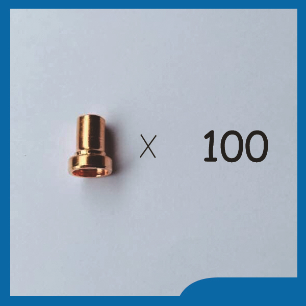100pcs PT31 LG40 Plasma Cutting Cutter Torch Consumables Extended Long Nozzles Tips Fit CT312 CUT30 CUT40 CUT50 esab l tec linde pt 31xl plasma cutting cutter torch consumables kit plasma nozzles tips