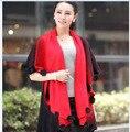 Новый стиль весна и осень batwing рукавом женщины платок кардиган свитер элегантная дама платок мыса