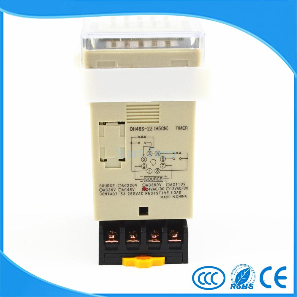 Us 95 Dh48s 2z H5cn 001s 99h99m Digital Timer Relay On Delay 8 Pins Spdt 2 Groups Contacts Dc12v Dc24v Ac110v Ac220v In Relays From Home Dc Miniature Circuit Breaker1sm6 China Mcb Minicircuit Breaker Improvement