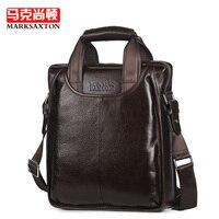 Luxury Italy Brand Design Natural Genuine Leather Men Bags Fashion Shoulder Messenger Bag Handbags Vertical Business