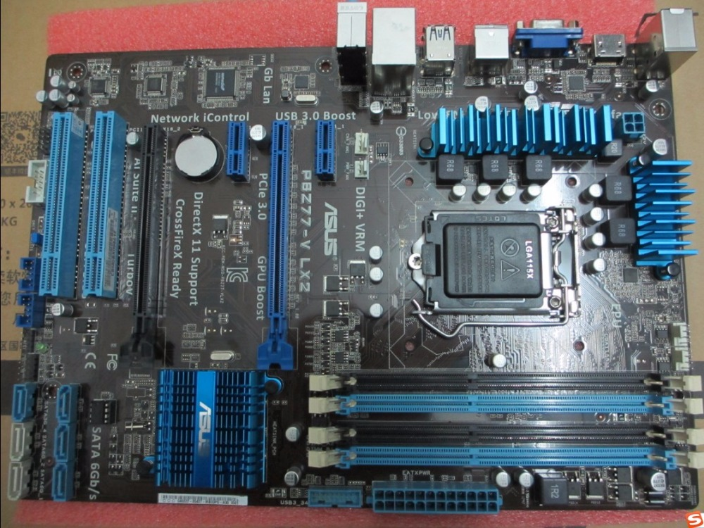 original font b motherboard b font for P8Z77 V LX2 DDR3 LGA 1155 boards Support I3