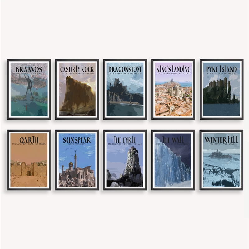 Game of Thrones Travel Poster Home Decor