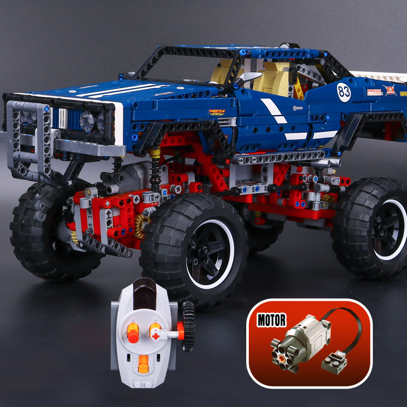 Lepin 20011 Technic Remote Control Electric Off-Road Vehicles Educational Building Block Compatible With Lego 41999 1605 Pcs