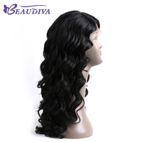 Beaudiva волосы предварительно Цветной человеческих волос парики с ребенком волос объемной волны Natural Цвет бразильский человеческих волос пар