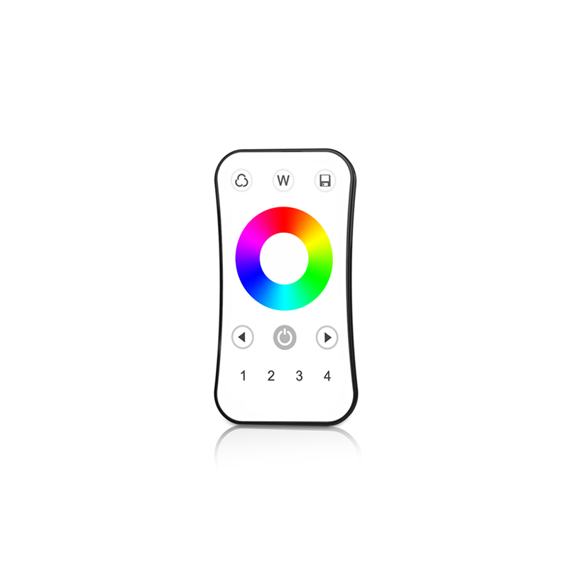 US $11 14 41% OFF|Iskydance RF wireless Touch Remote 4 zone R8 Work with V  series wireless receiver/Touch Panel Led RGB RGBW strip remote-in RGB