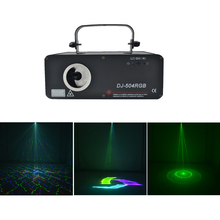 AUCD 3in1 500mW RGB Full Color 3D Scan Kaleidoscope DMX Projector Laser Lighting PRO DJ Party Show Disco Beam Stage Lights 504F