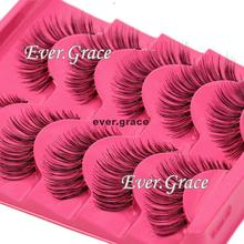 5 Pairs Black Natural Long Eye Lashes Makeup Handmade Thick Fake False Eyelashes