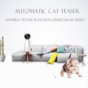 Image 5 - الإبداعية القط الحيوانات الأليفة LED ليزر مضحك لعبة الذكية التلقائي القط ممارسة لعبة تدريب متعددة زاوية قابل للتعديل USB تهمة